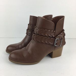 Style and Co Short Brown Booties Size 9